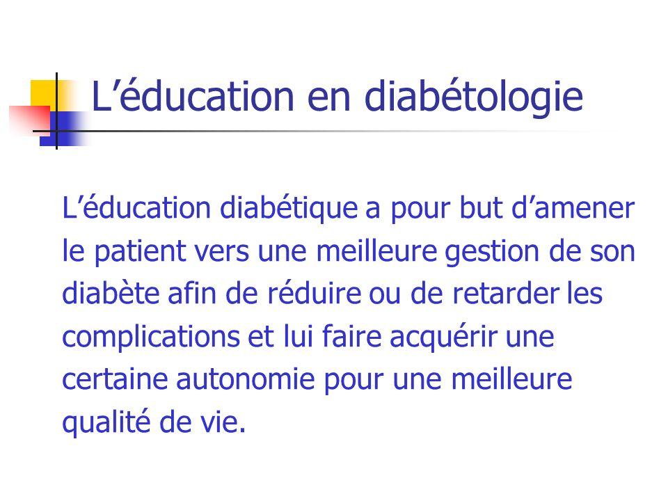 L'éducation en diabétologie