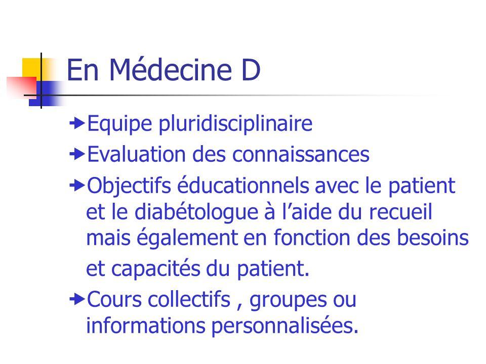 En Médecine D Equipe pluridisciplinaire Evaluation des connaissances
