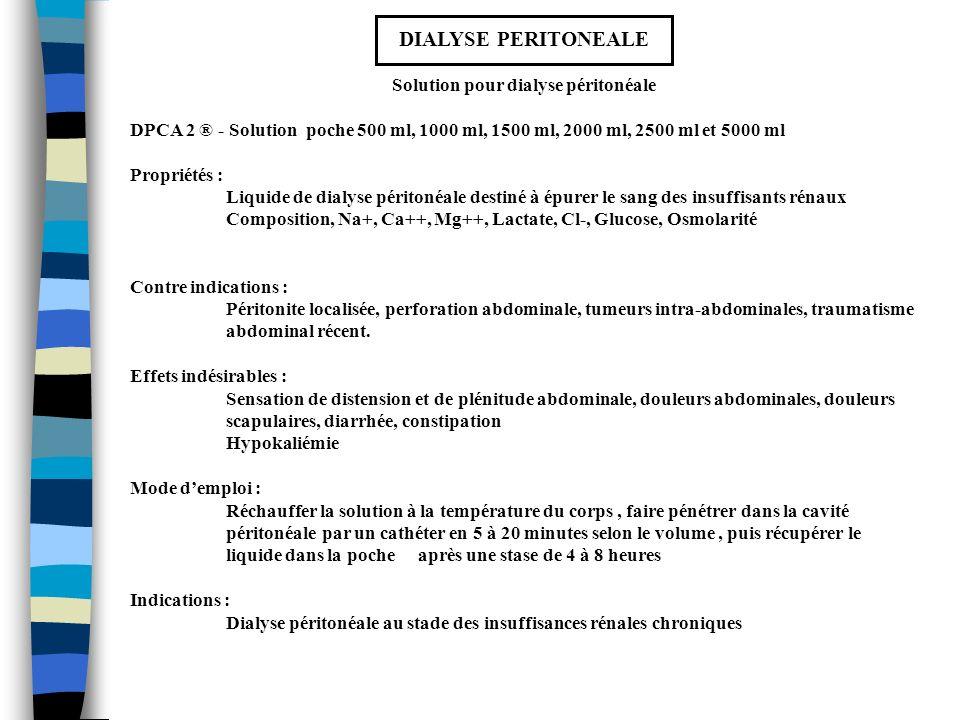 Solution pour dialyse péritonéale