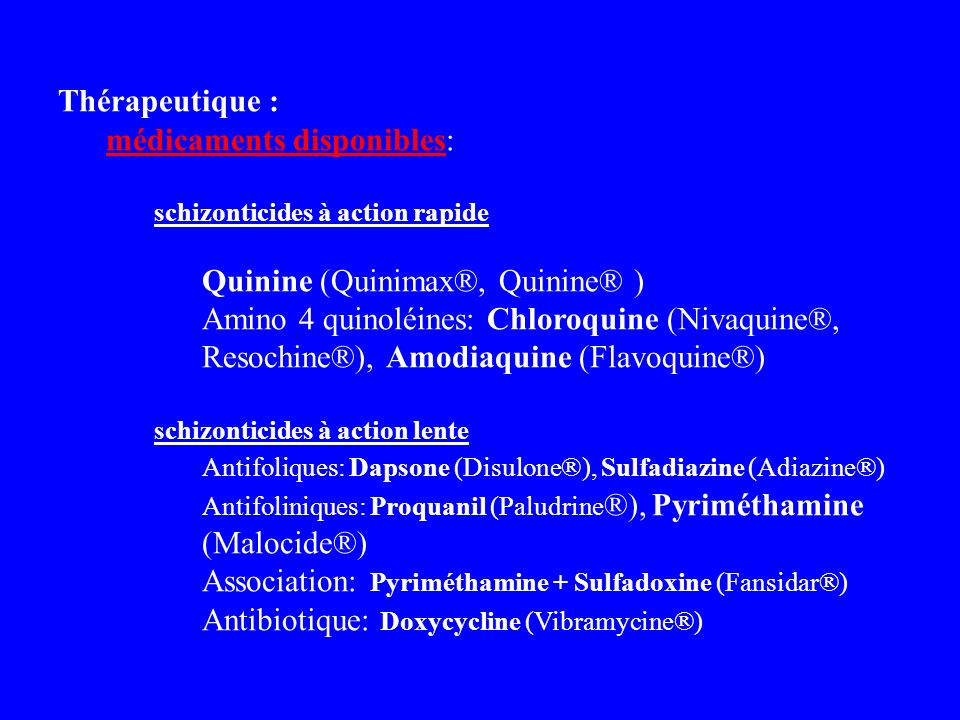 médicaments disponibles: