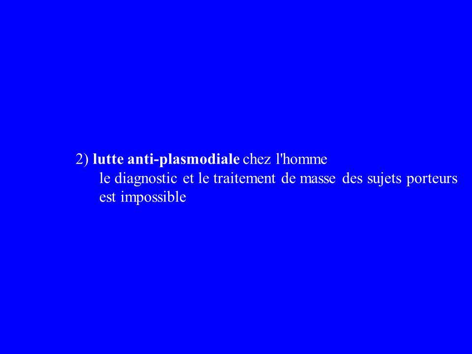 2) lutte anti-plasmodiale chez l homme