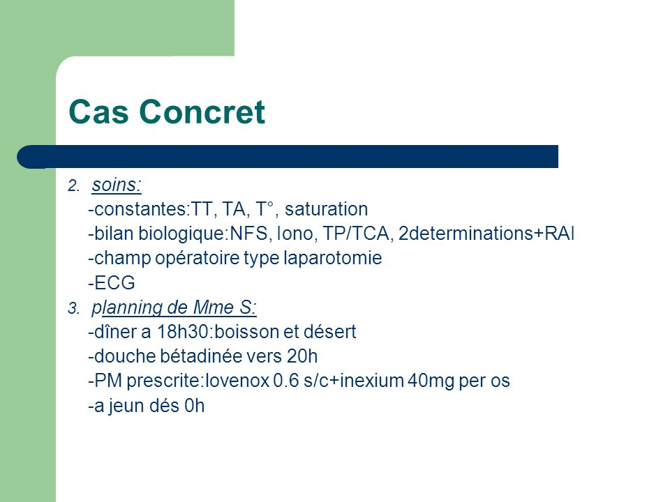 Cas Concret -constantes:TT, TA, T°, saturation