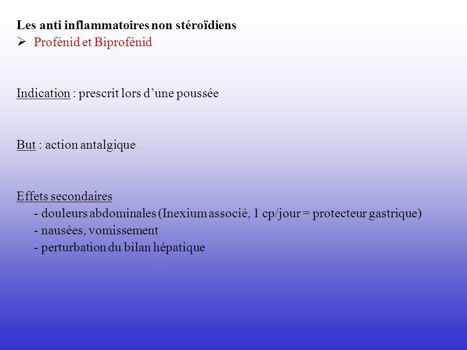 Les anti inflammatoires non stéroïdiens