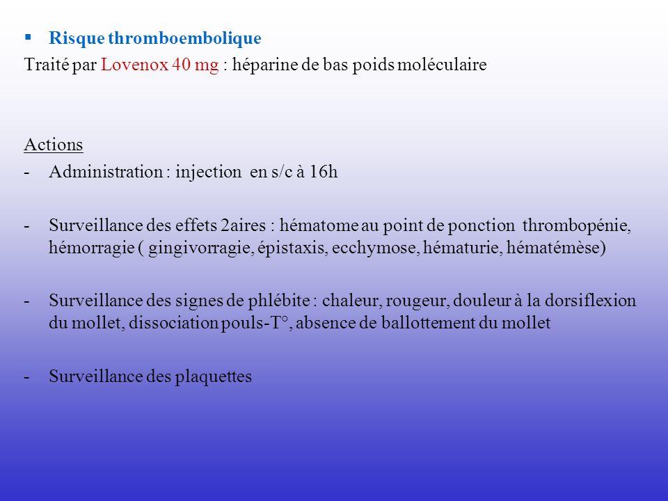 Risque thromboembolique
