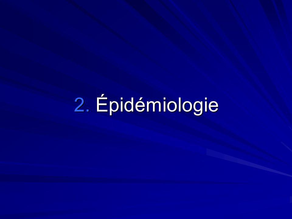 2. Épidémiologie