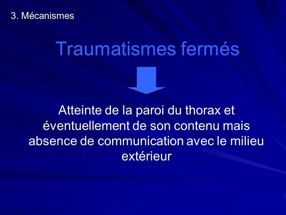 3. Mécanismes Traumatismes fermés.