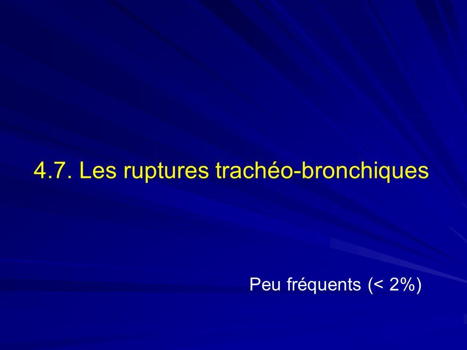 4.7. Les ruptures trachéo-bronchiques