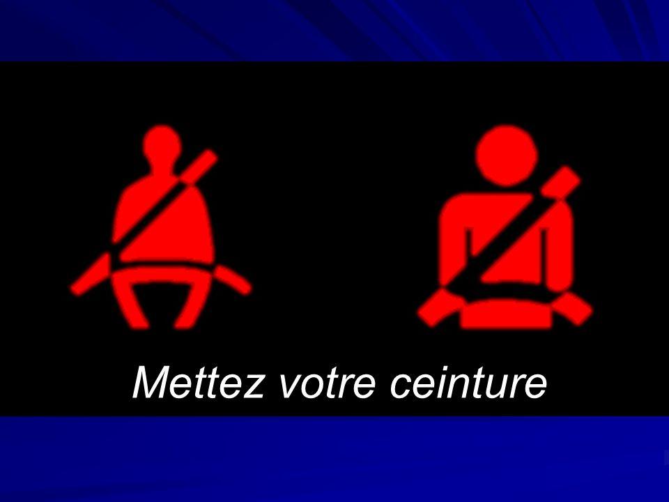 Ce qu'il faut retenir Mettez votre ceinture