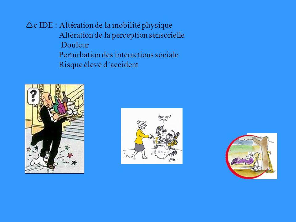 c IDE : Altération de la mobilité physique