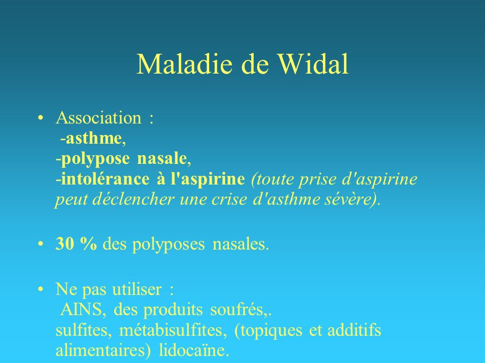 Maladie de Widal