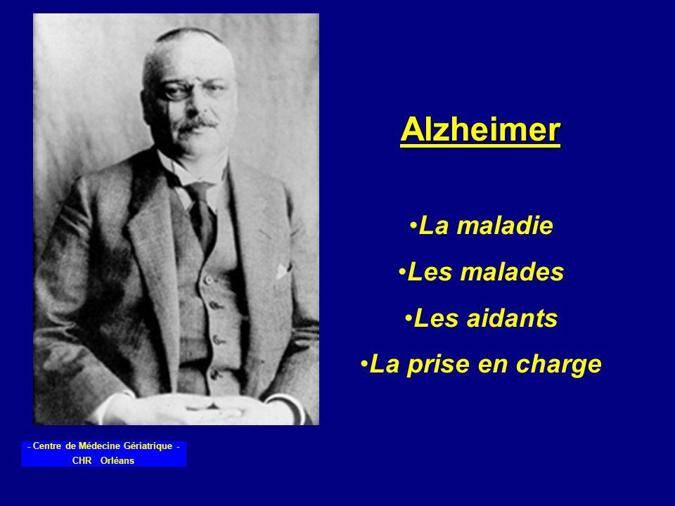 Alzheimer La maladie Les malades Les aidants La prise en charge