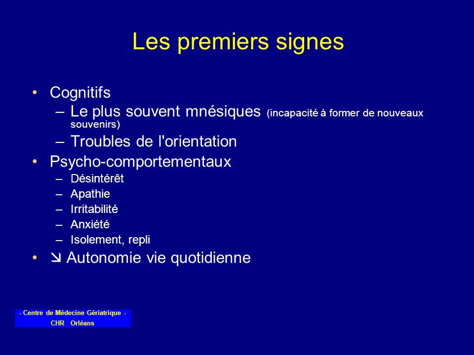 Les premiers signes Cognitifs
