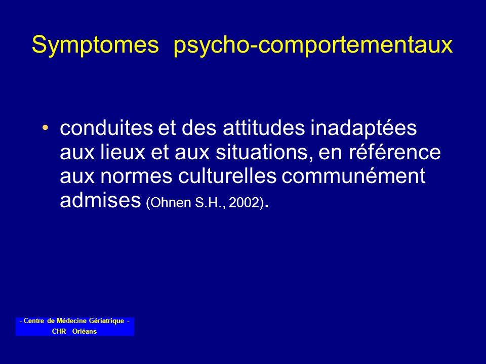 Symptomes psycho-comportementaux