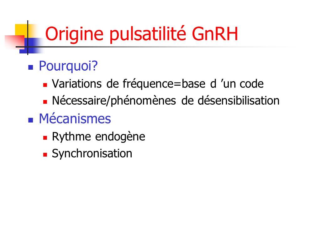 Origine pulsatilité GnRH