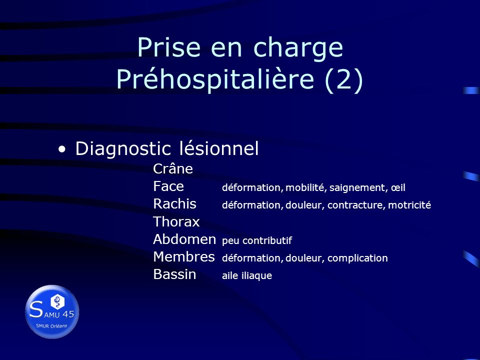 Prise en charge Préhospitalière (2)