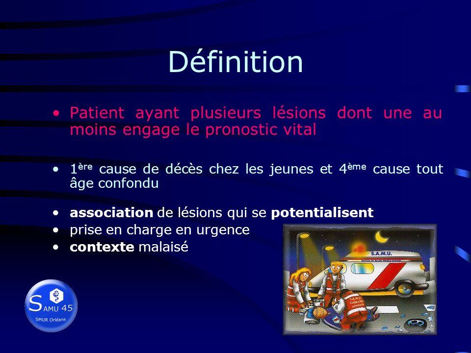 Définition Patient ayant plusieurs lésions dont une au moins engage le pronostic vital.