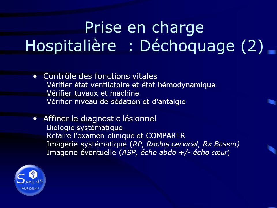 Prise en charge Hospitalière : Déchoquage (2)