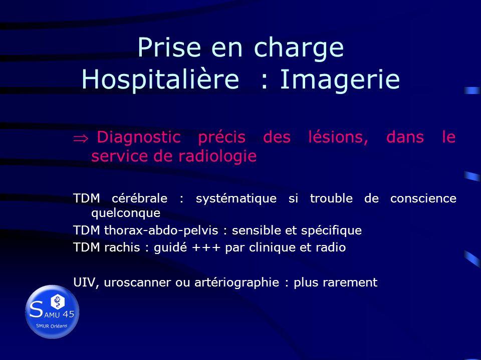 Prise en charge Hospitalière : Imagerie