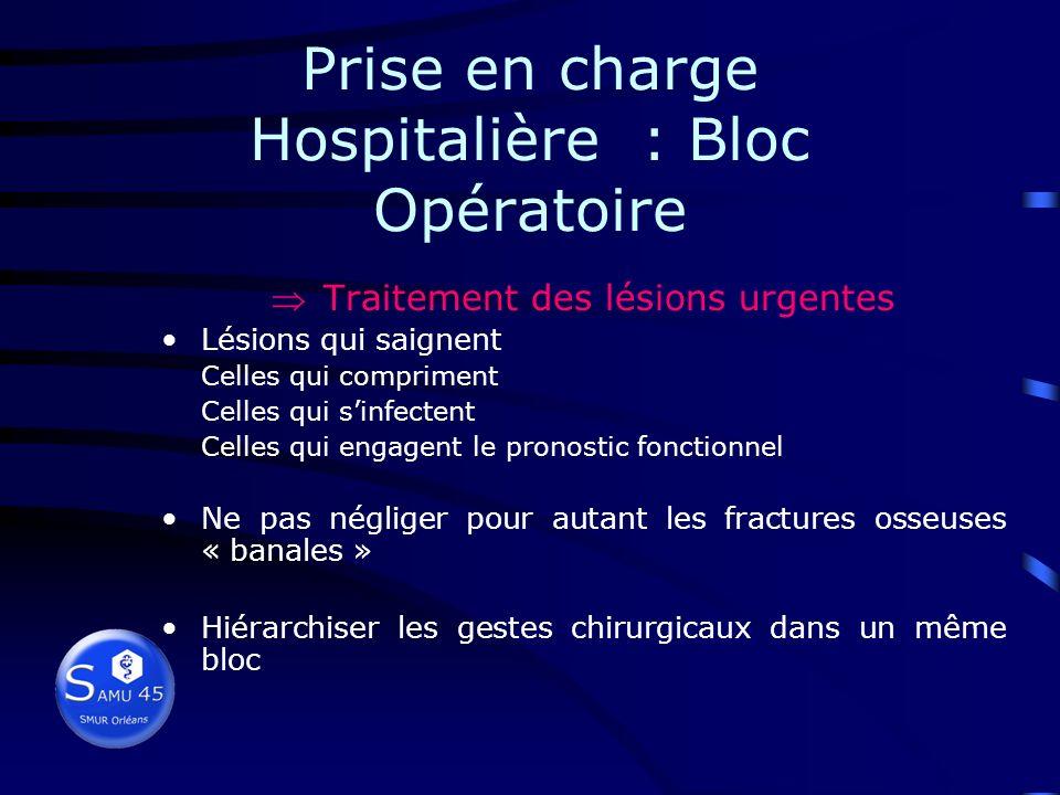 Prise en charge Hospitalière : Bloc Opératoire