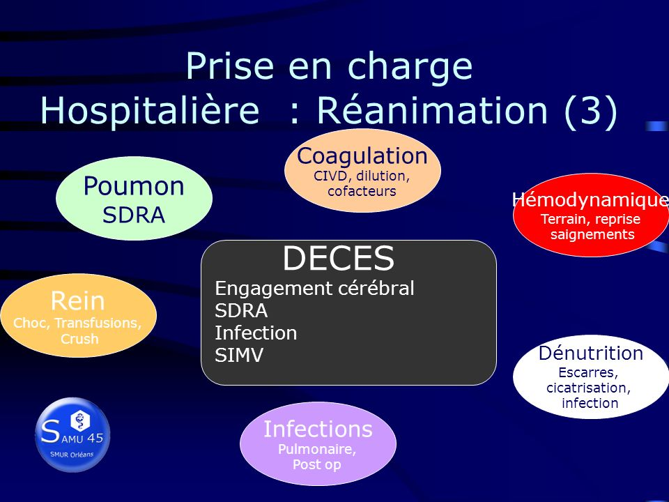 Prise en charge Hospitalière : Réanimation (3)