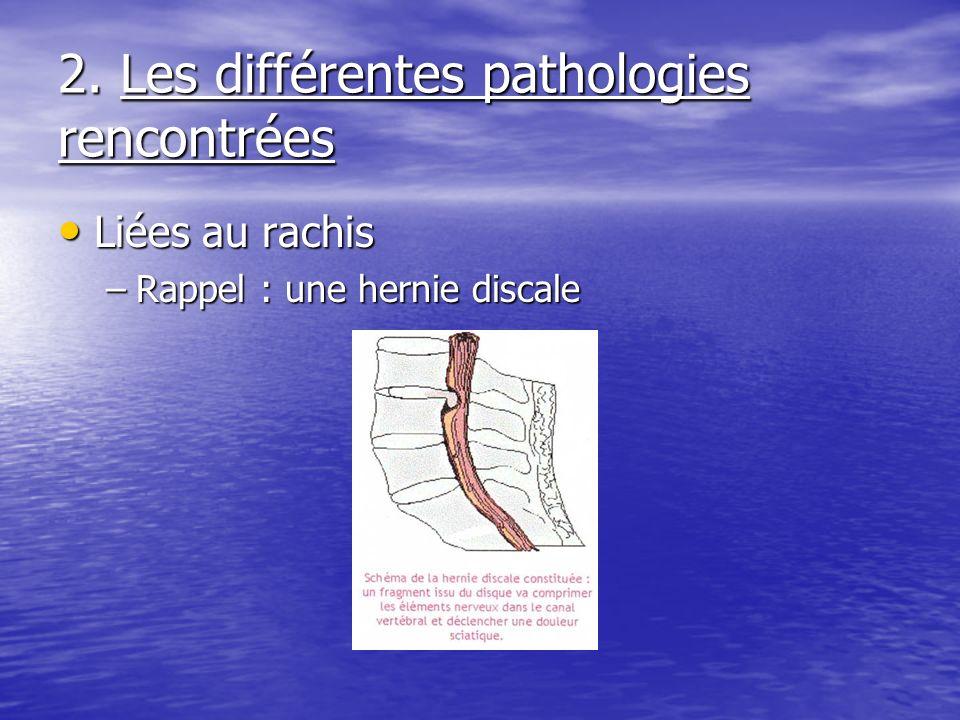 2. Les différentes pathologies rencontrées