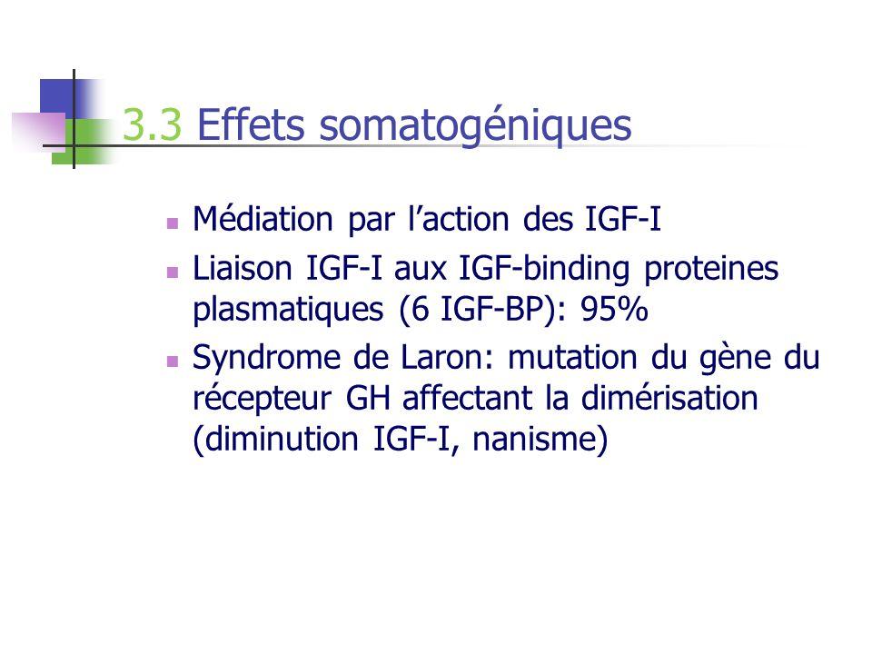 3.3 Effets somatogéniques