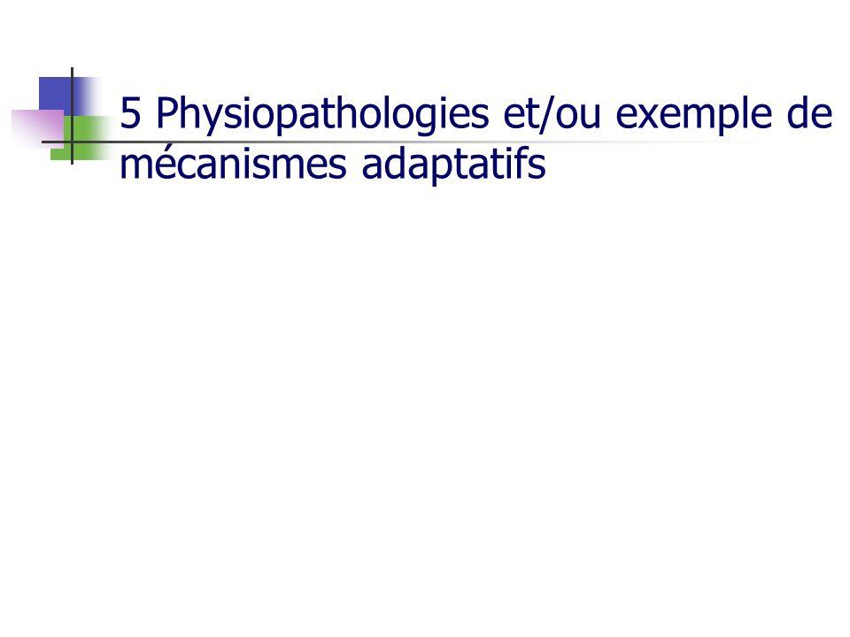 5 Physiopathologies et/ou exemple de mécanismes adaptatifs