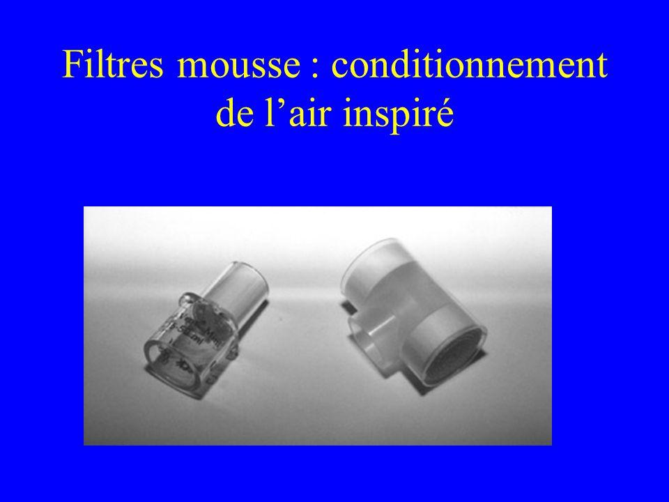 Filtres mousse : conditionnement de l'air inspiré