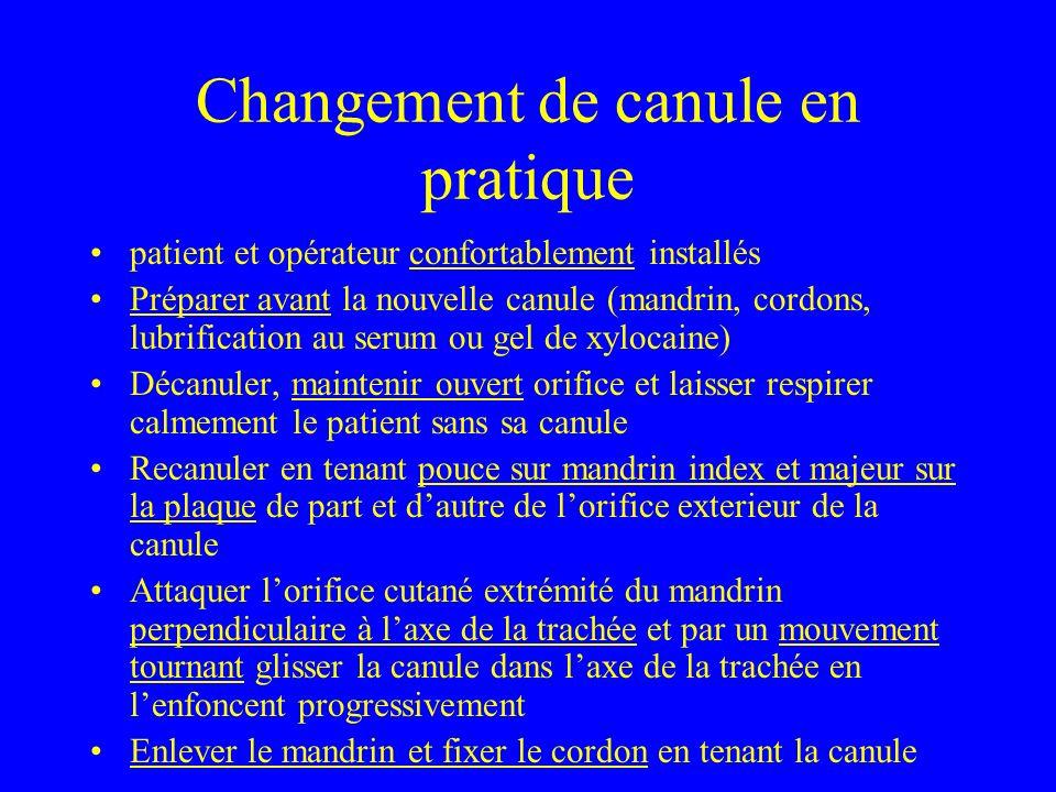 Changement de canule en pratique