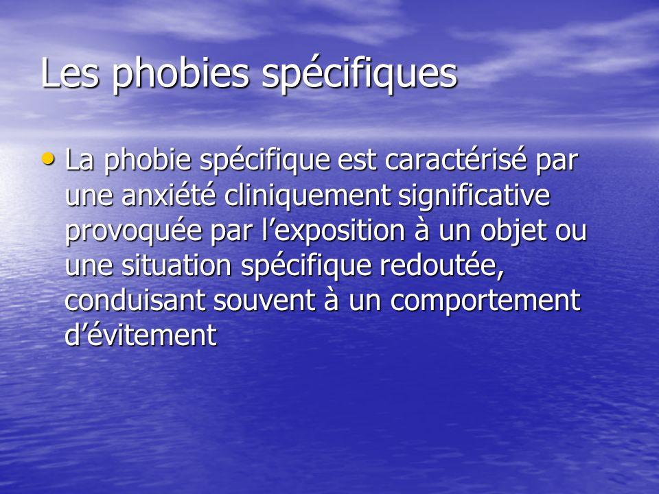 Les phobies spécifiques