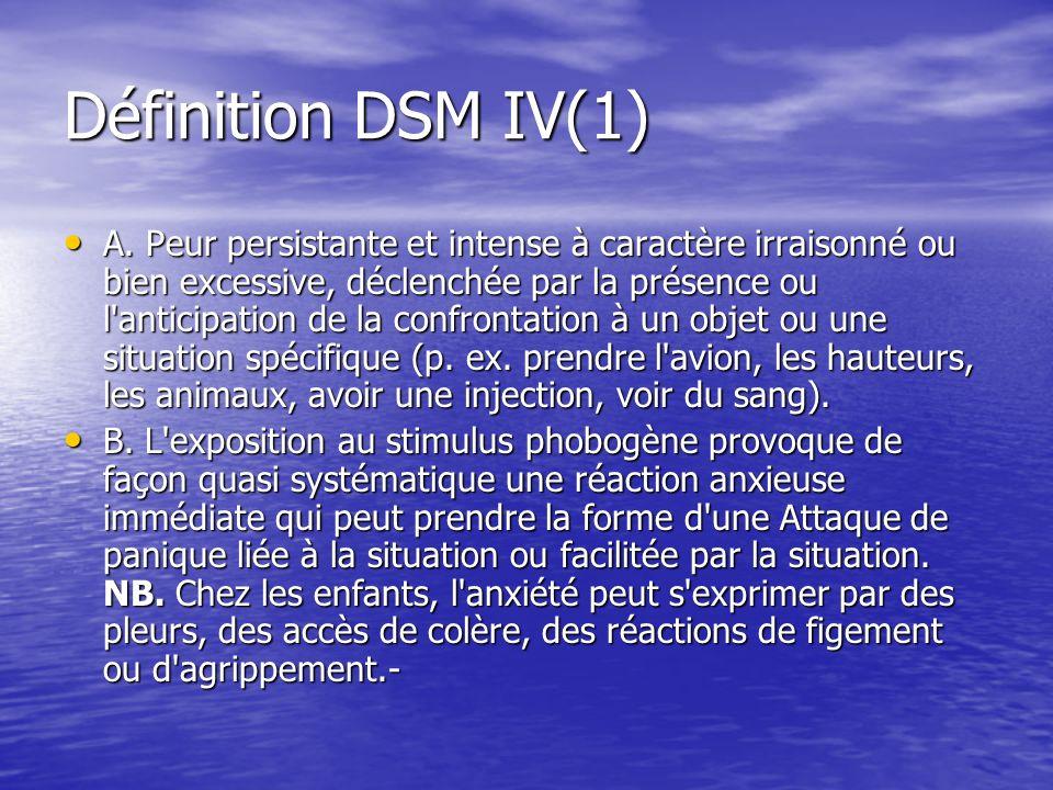 Définition DSM IV(1)