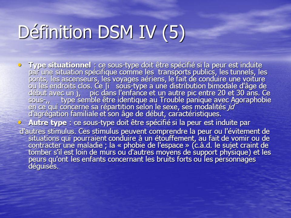 Définition DSM IV (5)