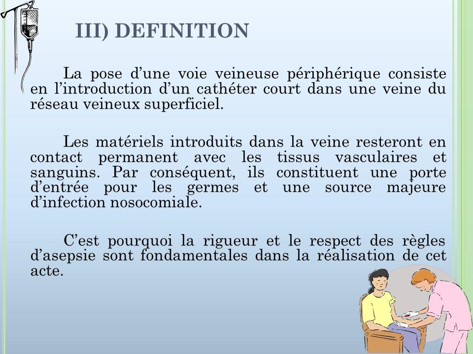 III) DEFINITION