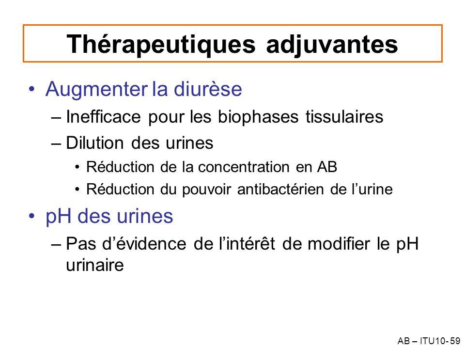 Thérapeutiques adjuvantes