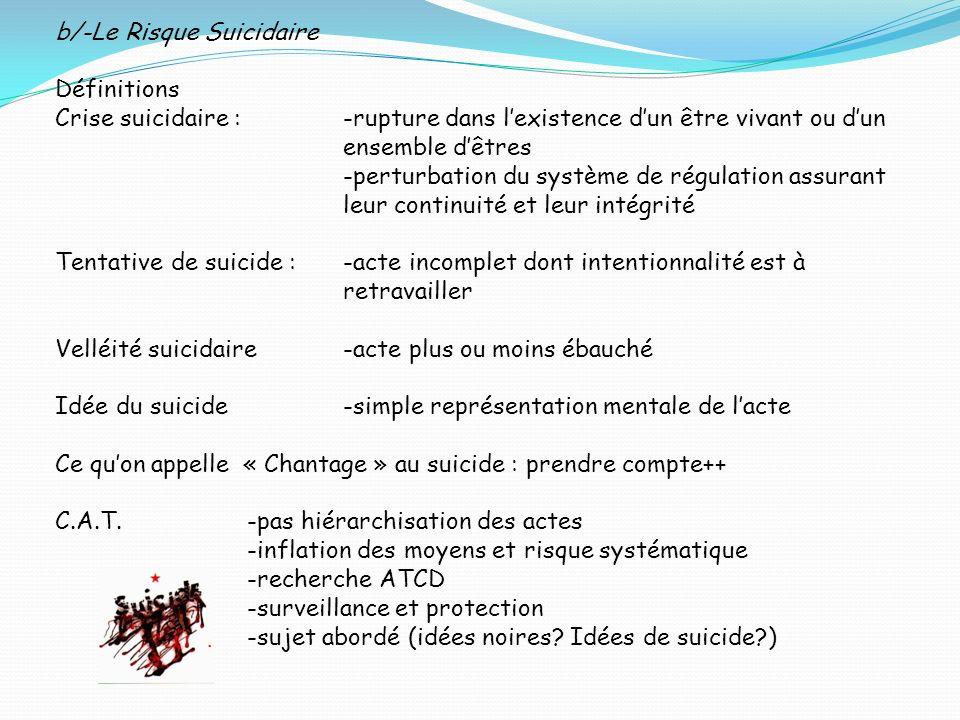b/-Le Risque Suicidaire