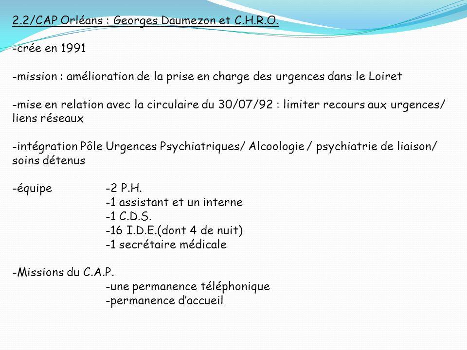 2.2/CAP Orléans : Georges Daumezon et C.H.R.O.