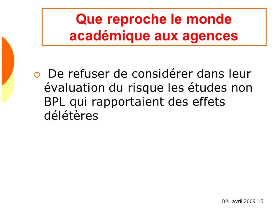 Que reproche le monde académique aux agences