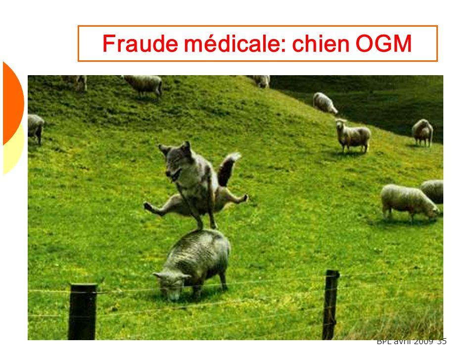 Fraude médicale: chien OGM
