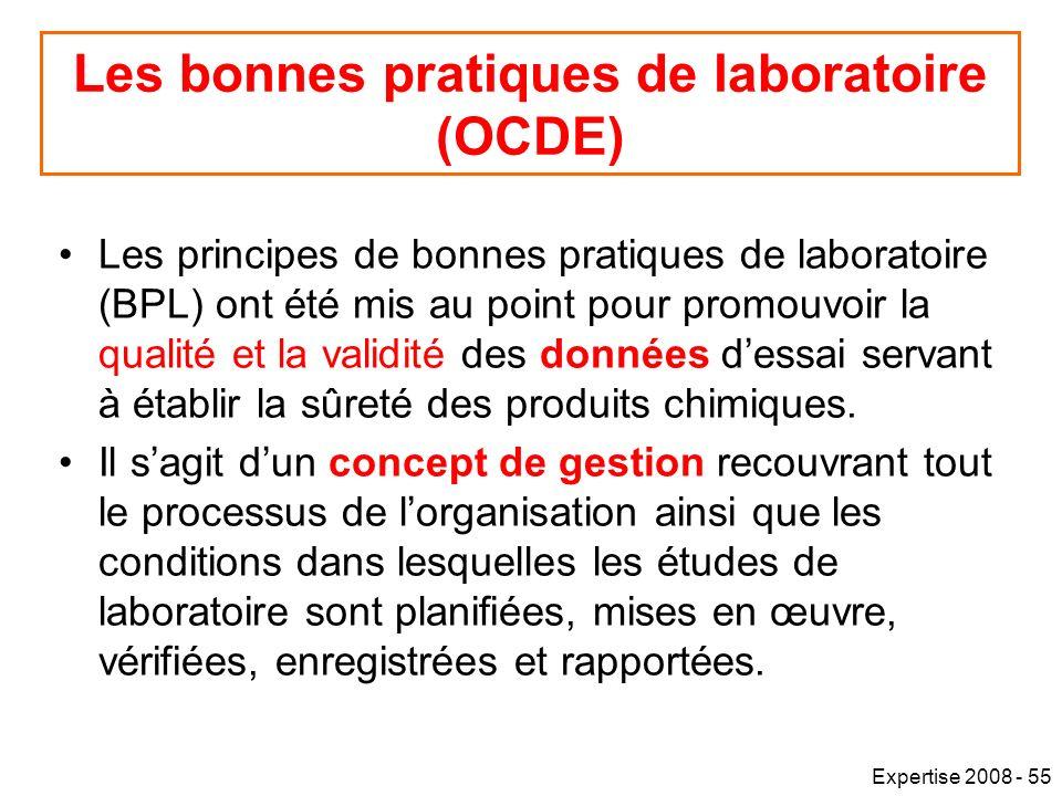 Les bonnes pratiques de laboratoire (OCDE)