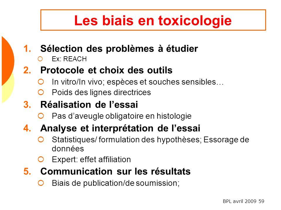 Les biais en toxicologie