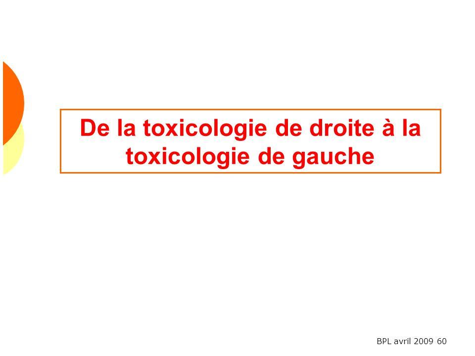 De la toxicologie de droite à la toxicologie de gauche