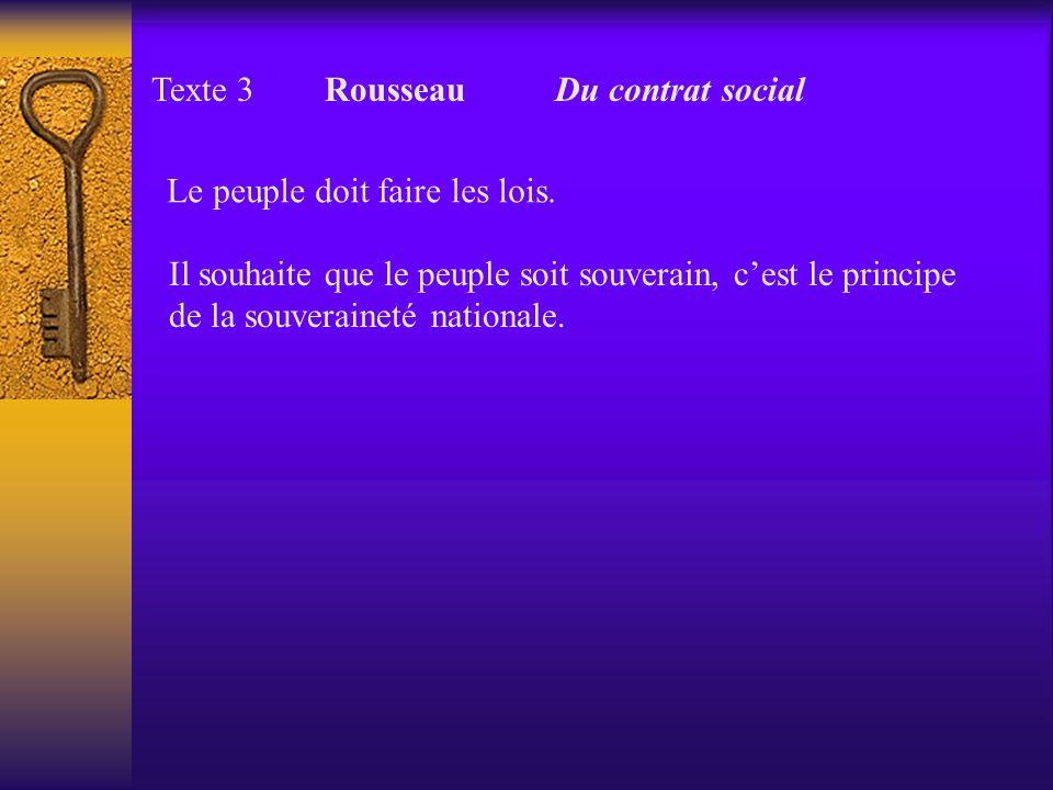Texte 3 Rousseau Du contrat social