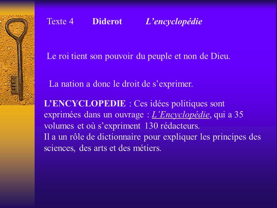 Texte 4 Diderot L'encyclopédie