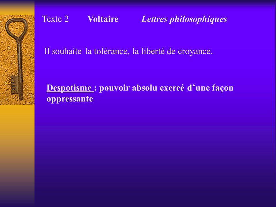 Texte 2 Voltaire Lettres philosophiques