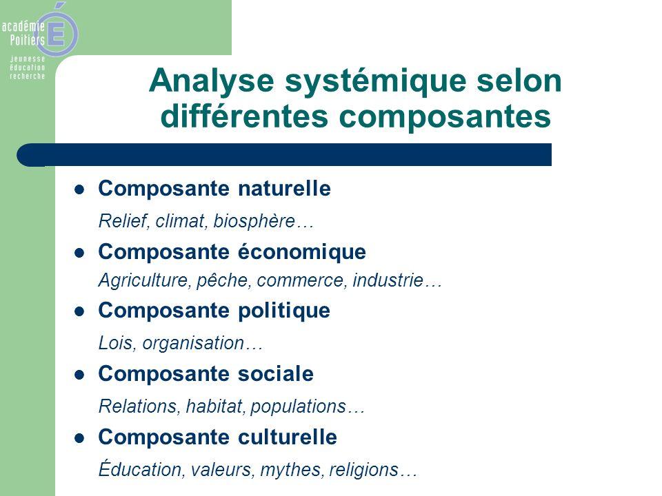 Analyse systémique selon différentes composantes