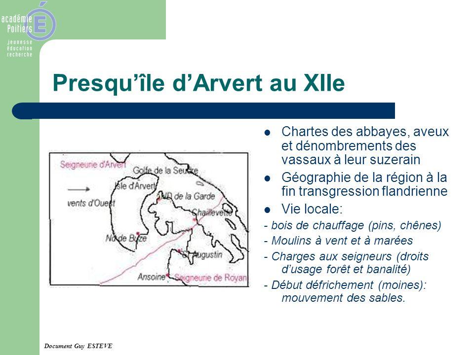 Presqu'île d'Arvert au XIIe