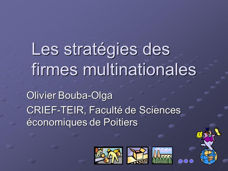 Les stratégies des firmes multinationales