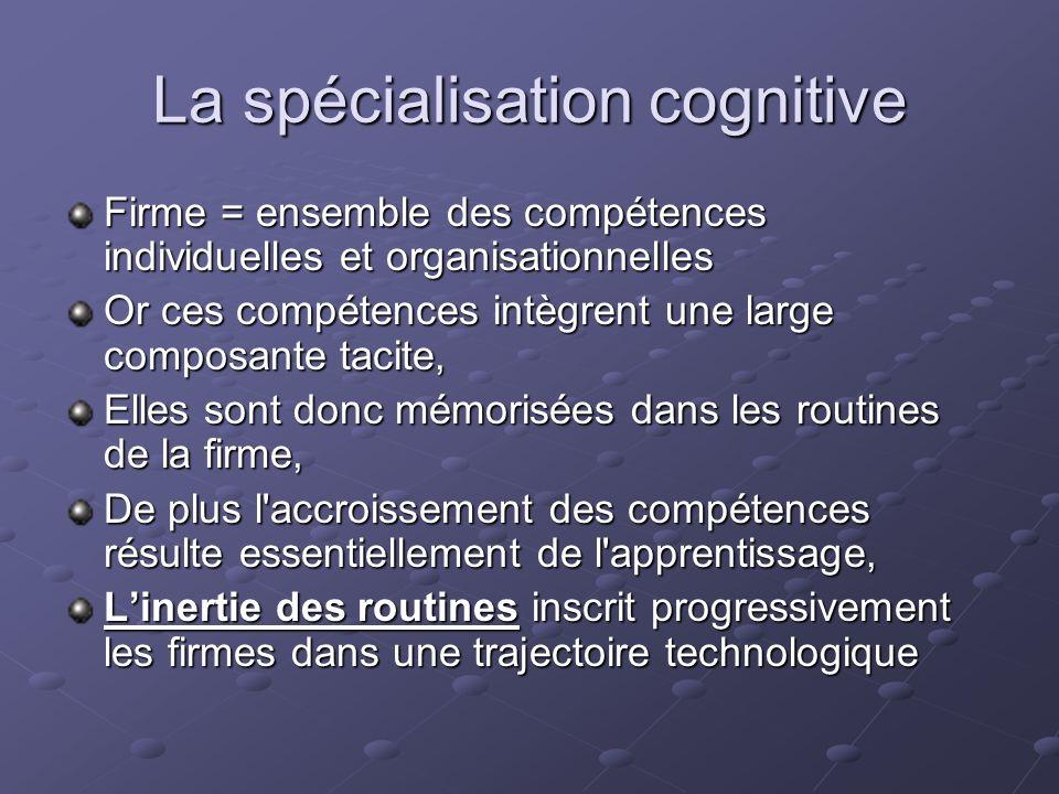 La spécialisation cognitive