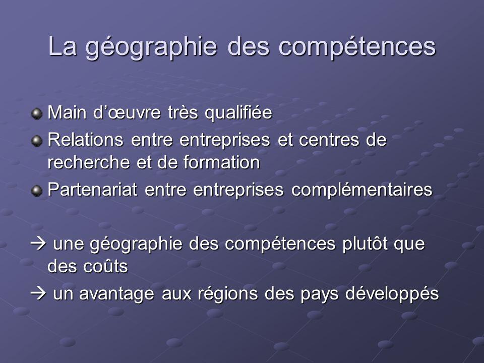 La géographie des compétences