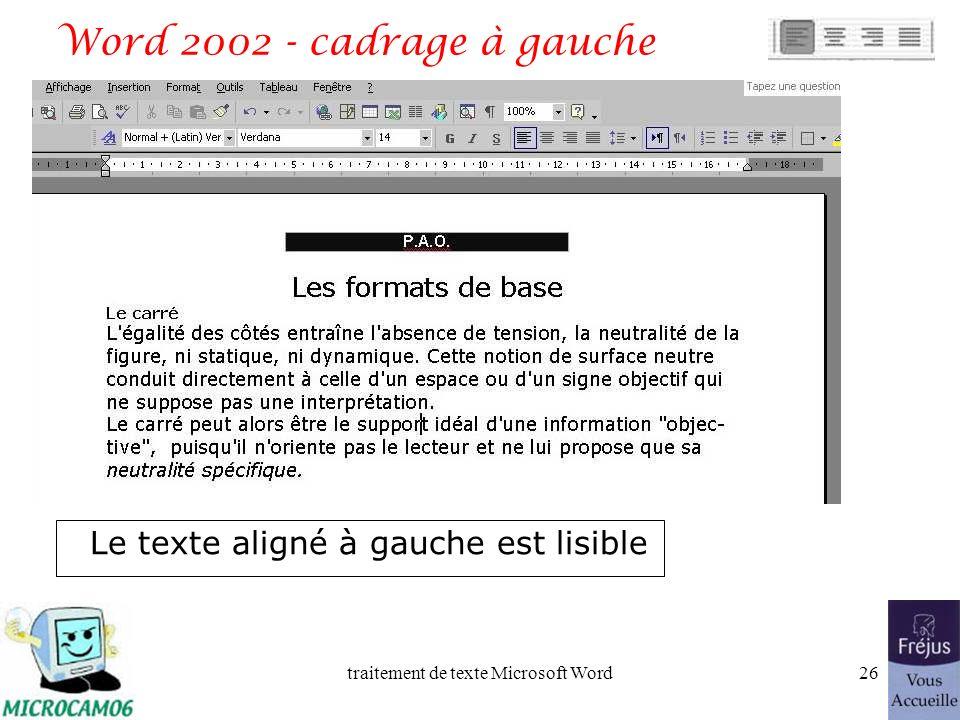 traitement de texte Microsoft Word